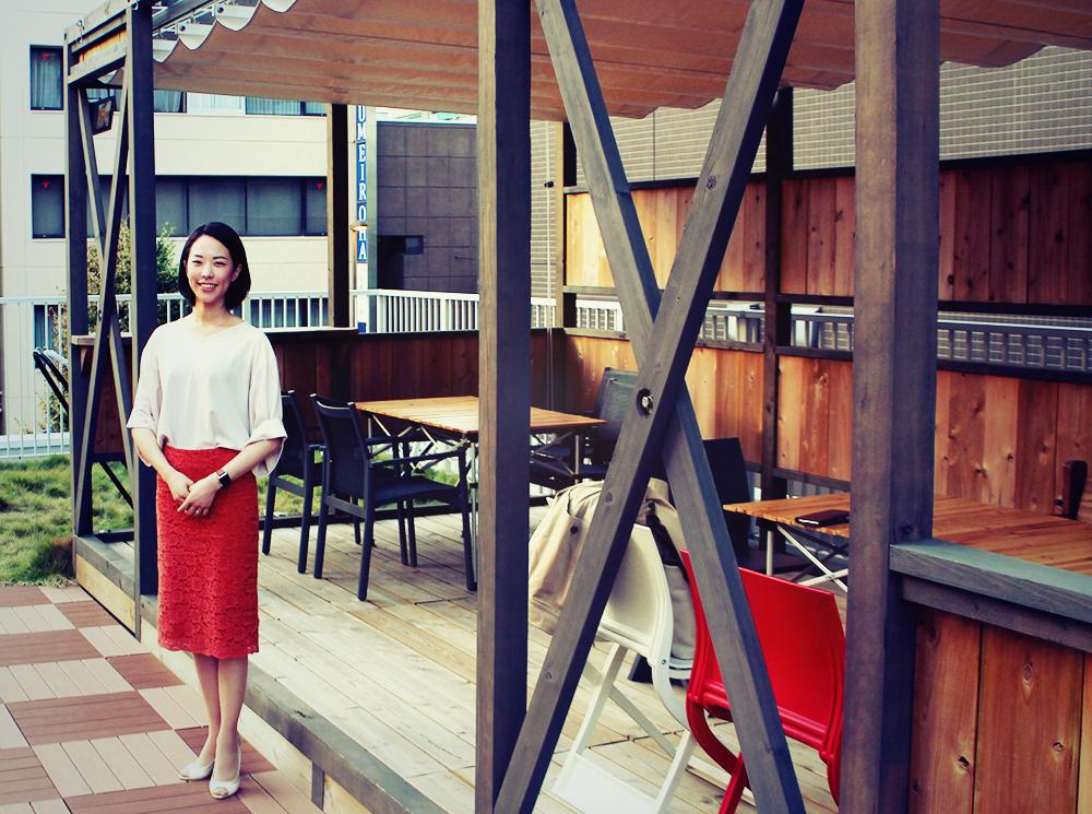 朝倉さんと鷰 enの屋上スペース