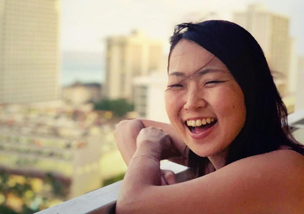 ハワイでのakippa石川さん。凄く楽しそうな素敵な笑顔!