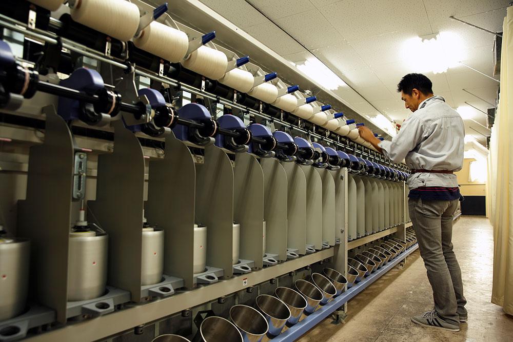 浅野撚糸の撚糸機