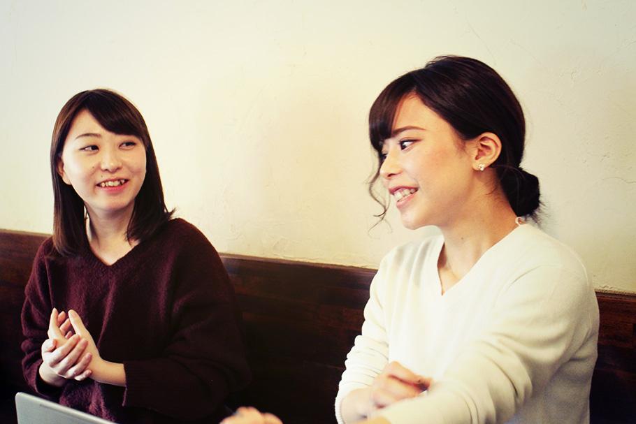 和田さん「企画の検討は半年先くらいまでを見越していて同時並行で撮影しながら、また新たな企画を立案していく感じです」とても仲の良いお二人でした。